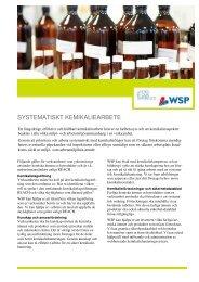 SYSTEMATISKT KEMIKALIEARBETE - WSP Group