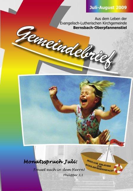 Juli-August 2009 Monatsspruch Juli: - posaunenchor ...