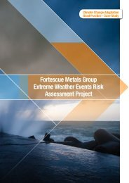 Fortescue Metals Group Extreme Weather Events Risk Assessment ...