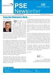 PSE Bi-monthly Newsletter - November, 2012, Vol 3, No 5 - CII