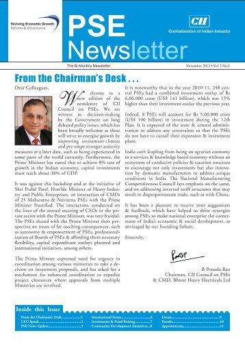 PSE Bi-monthly Newsletter - November, 2012, Vol 3, No 5 - CII