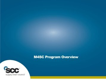 M4SC Program Overview - Supply Chain Council