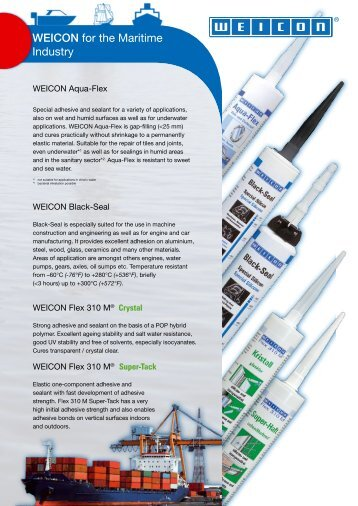 DOWNLOAD - WEICON for the Maritime Industry - Weicon.com