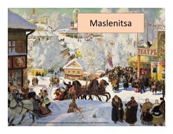 Maslenitsa Powerpoint (in pdf)