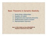 Basic Theorems in Dynamic Elasticity - UNAM
