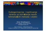 Kategorizacija i ispitivanje terena uz korištenje novih tehnoloških ...
