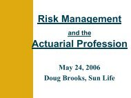Risk Management and the Actuarial Profession