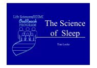 The Science Of Sleep - Life Sciences Outreach Program