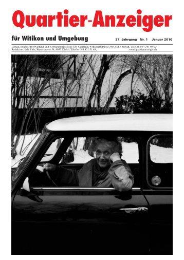 Ausgabe 1, Januar 2010 - Quartier-Anzeiger Archiv