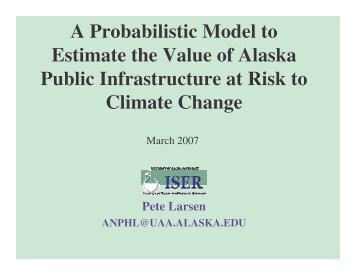 A Probabilistic Model to Estimate the Value of Alaska Public ...