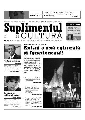 Exist\ o ax\ cultural\ [i func]ioneaz\! - Suplimentul de Cultura