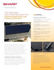 The OnEnergy Solar Racking System for Asphalt-Shingle Roofs with ...