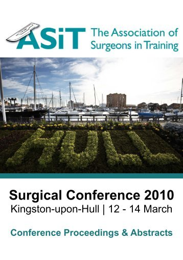 Abstract Book 2010 - The Association of Surgeons in Training