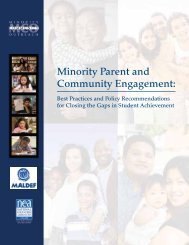 Minority Parent and Community Engagement: - maldef