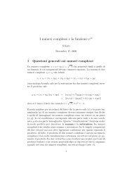 Numeri complessi e formula di Eulero