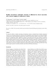 Benthic invertebrate community structure is influenced by forest ...
