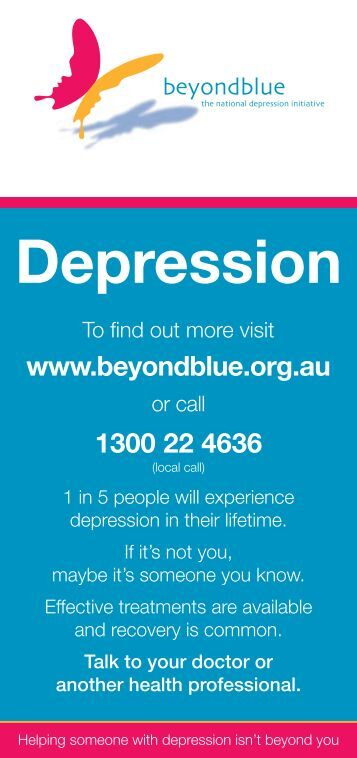 Depression Checklist - Bendigo Health
