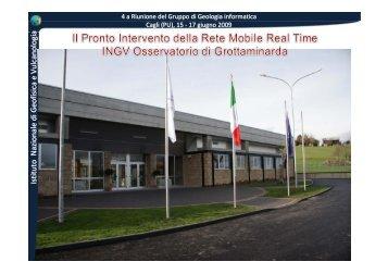 Istituto Nazionale di Geofisica e VulcanologiaIstituto Nazionale di ...