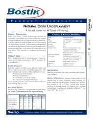 Hydroment Template - Bostik, Inc
