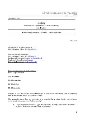 Modul 2 (15 ECTS) - For Studerende - Aarhus Universitet
