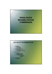 PASIG RIVER PASIG RIVER REHABILITATION COMMISSION - WEPA