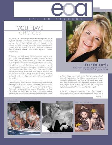 10589677_RVP Brenda Davis.indd - Arbonne