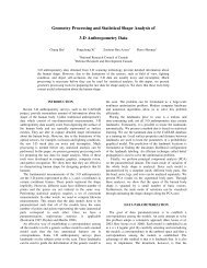 Geometry Processing and Statistical Shape Analysis of 3-D ...