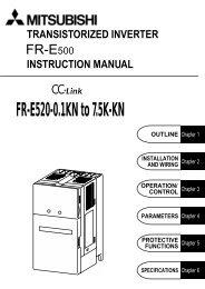 FR-E500-KN INSTRUCTION MANUAL - Suport