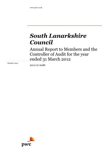 South Lanark Council South Lanarkshire Council ... - Audit Scotland