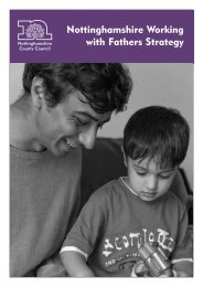 Nottinghamshire Working with Fathers Strategy