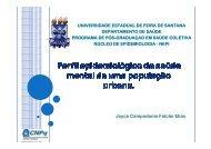 Perfil Epidemiológico da Saúde Mental de uma ... - Epi2008