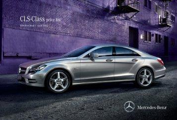 CLS-Class price list - Mercedes-Benz