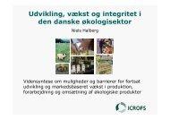 Udvikling, vækst og integritet i den danske økologisektor