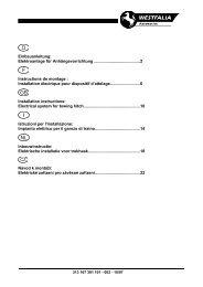 Einbauanleitung: Elektroanlage für Anhängevorrichtung ... - Westfalia