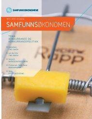 Samfunnsøkonomen nr 9 - 2010 - Samfunnsøkonomene