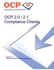 OCP 2.0 / 2.1 Compliance Checks - OCP-IP
