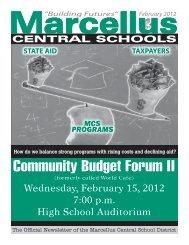 Community Budget Forum II - Marcellus Central School District