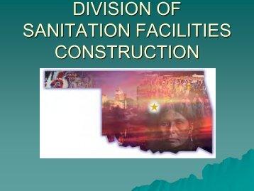 DIVISION OF SANITATION FACILITIES CONSTRUCTION