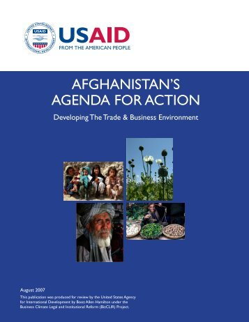 Afghanistan's Agenda for Action - Economic Growth - usaid
