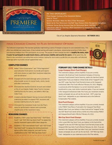 Newsletter 3rd Quarter 2011 - City of Los Angeles Personnel ...