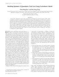 Modeling Epistasis of Quantitative Trait Loci ... - Academia Sinica