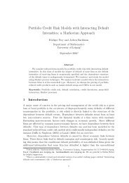 Portfolio Credit Risk Models with Interacting Default Intensities: a ...