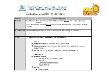 dav rohtak holiday homework 2014