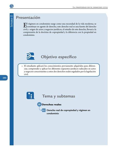 Presentación Tema y subtemas Objetivo específico