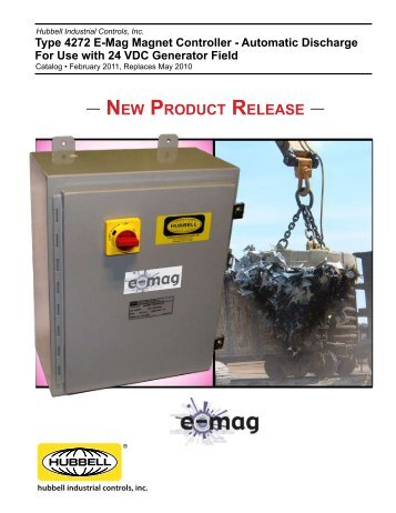 Type 4272 E-Mag Magnet Controller - Hubbell Industrial Controls