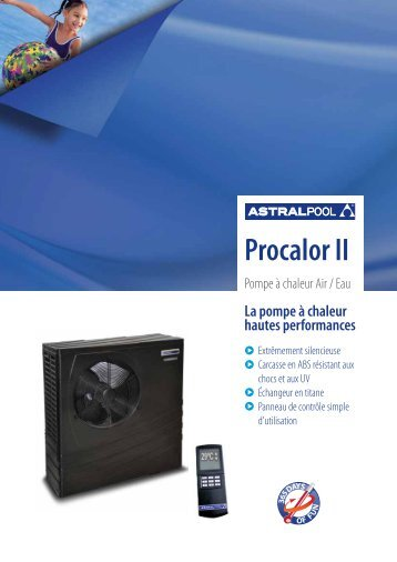 Procalor II FR - Or Bleu Piscine
