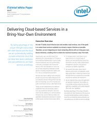 Delivering Cloud-based Services in a Bring-Your-Own ... - Intel