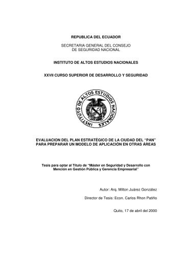 JUAREZ MILTON.pdf - Repositorio Digital IAEN - Instituto de Altos ...