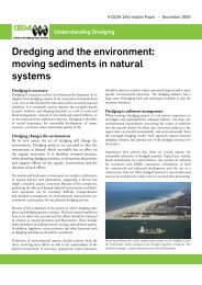 Dredging and the environment: moving sediments in natural systems