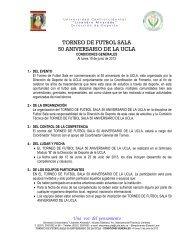 TORNEO DE FUTBOL SALA 50 ANIVERSARIO DE LA UCLA